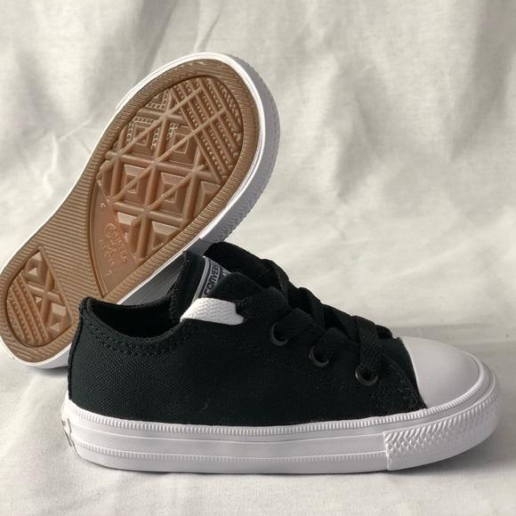 24957b585c5 CONVERSE Infant CTAS II OX Black White Navy Size 7